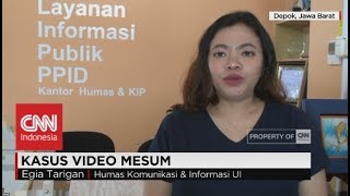 Polisi Cari Tahu Identitas Pelaku Video Mesum di Kampus UI Depok