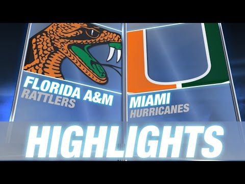 Florida A%26M vs Miami %7C 2014 ACC Football Highlights