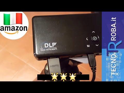 mini Proiettore portatile FullHD prova su muro con Netflix
