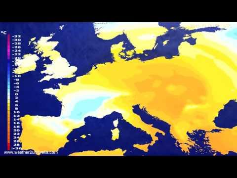 Temperature forecast Europe 2015-10-12