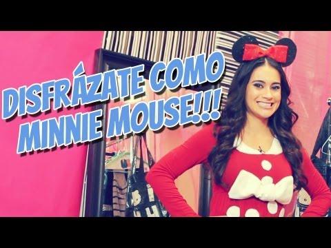 Tutorial de Halloween Disfraz de Minnie Mouse-Vlog de Vivian Fabiola