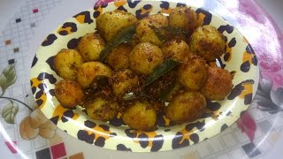 Urulai kizhangu varuval or small potato fry