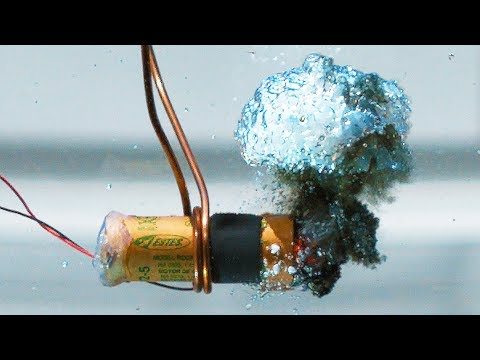 Watch This Model Rocket Engine Smash A Glass Fish Tank in 4K Slow Motion