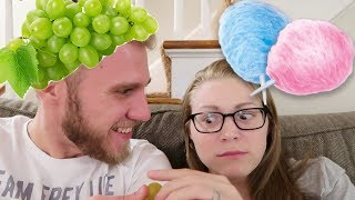 We finally got our hands on some Cotton Candy Grapes! Check out our taste test to find our if they actually taste like cotton candy!Visit our Online Store → http://thefreylife.com/storeWatch Yesterday's Vlog → https://youtu.be/4HF2rebftGwONE YEAR AGO → https://youtu.be/eEhojPPDN3c2 Years Ago → https://youtu.be/EmT-8oT9MF8↓↓↓Watch more from The Frey Life↓↓↓What is Cystic Fibrosis → https://youtu.be/llrxGuU5o5cNew Here Playlist → https://goo.gl/EZgra7Draw My Life → https://youtu.be/jHYw-gQimwsService Dog Q&A → https://youtu.be/5Nh1fS1N9NQCystic Fibrosis Q&A → https://youtu.be/YDJ3yIS6SWIAre We Having Kids? → https://youtu.be/uHjEcXvn2ZUPeter's Channel → https://youtube.com/peterfreylifeSubscribe to our channel → http://goo.gl/LvdRdF → We post new vlogs everyday showing daily life with Cystic Fibrosis!Help us make these videos more accessible by contributing closed captions! → http://www.youtube.com/timedtext_cs_panel?tab=2&c=UCFJY0O-pkdXs6YuM5KW7r7gOUR CAMERASCanon G9X → http://amzn.to/1WhMLbnCanon 70D → http://amzn.to/1VHJmEfMavic Pro Drone → http://amzn.to/2ixXL4WFOLLOW US!Mary's Instagram → http://instagram.com/freylivingPeter's Instagram → http://instagram.com/peterfreylifeTwitter → http://twitter.com/thefreylifeGoogle+ → http://google.com/+thefreylifeFacebook → http://facebook.com/thefreylife