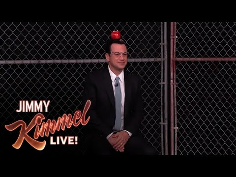 Jimmy - Dodgers pitcher Clayton Kershaw attempts to knock an apple off of Jimmy's head with a baseball. SUBSCRIBE to get the latest #KIMMEL: http://bit.ly/JKLSubscribe Watch the latest Mean Tweets:...