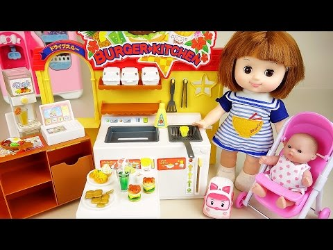 Baby Doll Burger Shop Kitchen Toys With Poli Pororo Play