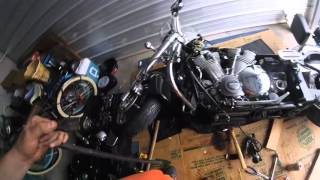 9. Yamaha Roadstar Engine Removal - oil pump gear failure
