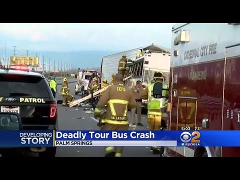 Tour Bus and semi-truck crash in California kills 13 in deadly accident near Palm Springs