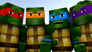 Teenage Mutant Ninja Turtles IN MINECRAFT [Minecraft Animation]
