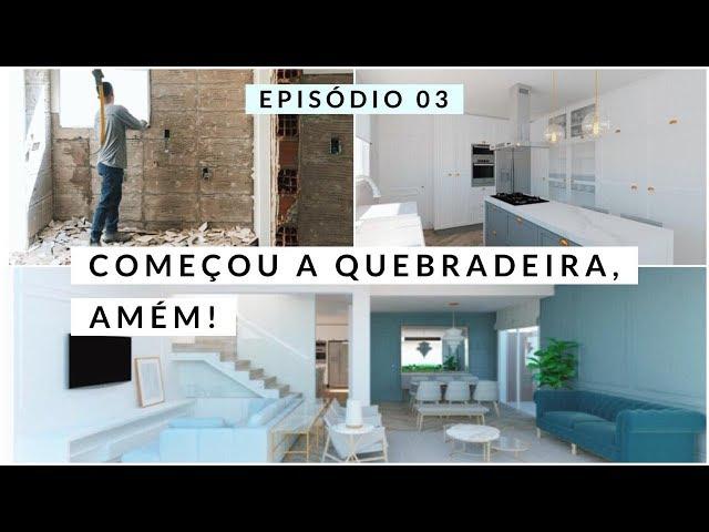 DIÁRIO DA OBRA: COMEÇOU! DEMOLIR, CONSTRUIR E 3D #RAYZAHOME - Rayza Nicácio