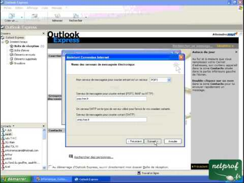 comment modifier outlook express