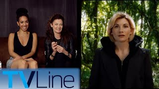 Pearl Mackie and Michelle Gomez react to Jodie Whittaker as the 13th Doctor. Plus, what they love about working with Peter Capaldi. ► http://bit.ly/TVLineSubscribehttp://tvline.comFollow Us On SocialTwitter http://twitter.com/MichaelAusiello, http://twitter.com/TVLineFacebook http://www.facebook.com/pages/TVLineGoogle+ http://plus.google.com/+TVLine