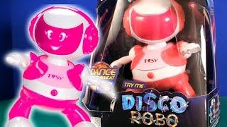 Watch this dancing robot move to the beat of your songs, hand claps and tv remote controller.Suitable for kids 3 and up.Dancing Robot toy made by Tosy.Music By Kevin Macleod (Aurea Carmina)