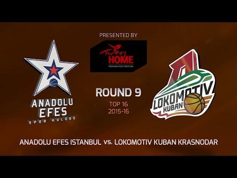 Highlights: Top 16, Round 9, Anadolu Efes Istanbul 61-76 Lokomotiv Kuban Krasnodar