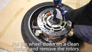 6. Honda CBR600 F4i Complete Brake Job PT1 - Front Pads and Rotors
