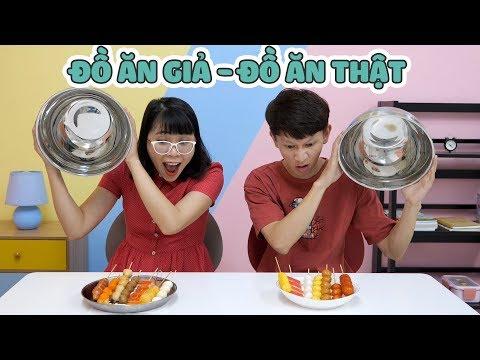 Thử Thách Đồ Ăn Thật - Đồ Ăn Giả (Giống Thật 100%) - Thời lượng: 13:31.
