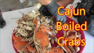 How to peel and eat Louisiana boiled blue crabs with a Cajun by Louisiana Cajun Recipes