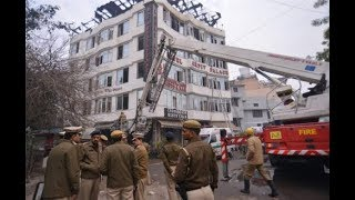 At least 17 killed in a massive fire at Delhi's Karol Bagh hotel