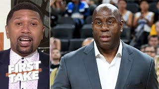 Magic Johnson left Lakers because 'he wasn't able to finish the job' - Jalen Rose   First Take
