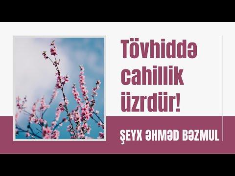 Şeyx Əhməd Bəzmul - Tövhiddə cahillik üzrdür!