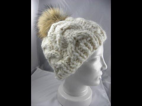 Mütze stricken mit Zopfmuster