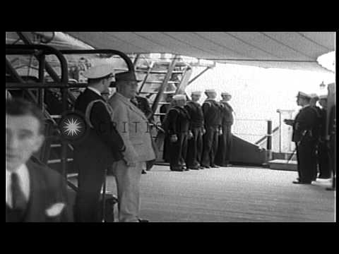British Prime Minister Winston Churchill And Top Ranking British Officials Board ...HD Stock Footage