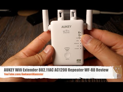 AUKEY Wifi Extender 802.11AC AC1200 Repeater WF-R8 4 Antennas Review