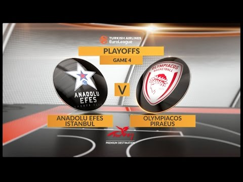 EuroLeague Highlights Playoffs 4: Anadolu Efes Istanbul 62-74 Olympiacos Piraeus
