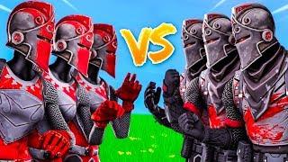 100 KNIGHTS BATTLE! - Red Knight VS Black Knight | SKIN WARS 1