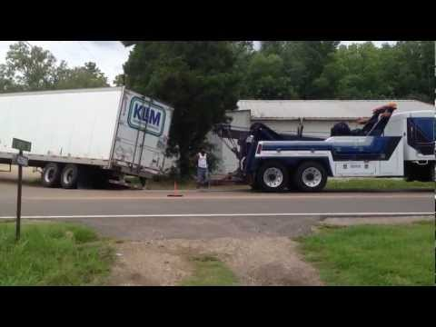 towtruck - Jackknife truck. A truck driver jacknife's truck! Tangipahoa parish. Never fear a master wrecker and operator are on the way to the scene!! The wrecker and t...
