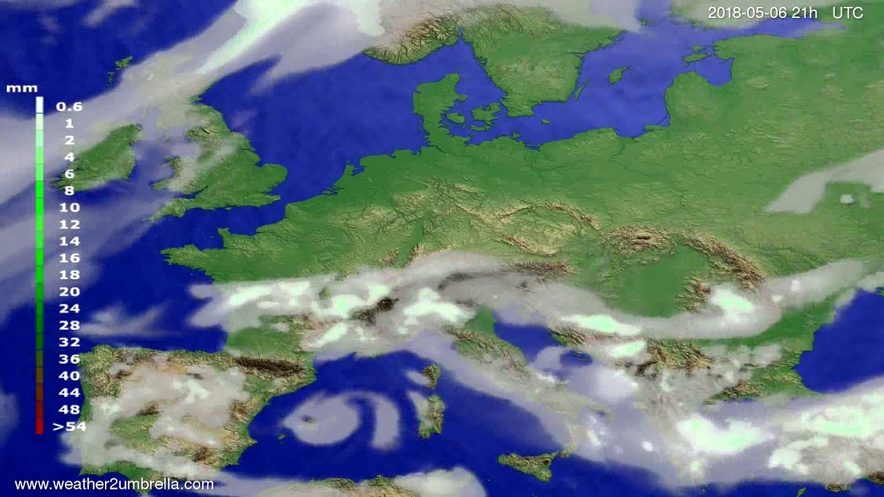 Precipitation forecast Europe 2018-05-03
