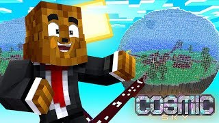 How To Make a $10,000,000 Sugarcane Farm (Island LVL 9) - Minecraft Cosmic Sky #15   JeromeASF