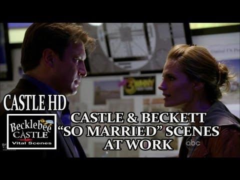"""Castle Season 5 """"So Married"""" Scenes At Work Castle and Beckett Caskett Scenes HD"""