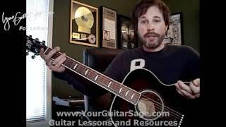 12 Bar Blues - Lefty Beginner Acoustic Guitar Lesson