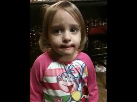 Guilty toddler denies putting on Mom's makeup