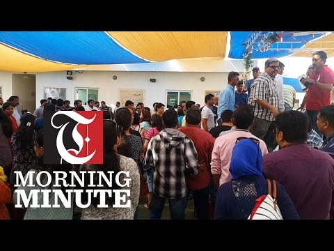 Worried parents had gathered within the premises of Modern International School on Saturday after they were informed that the institution is going to discontinue the CBSE-I curriculum.