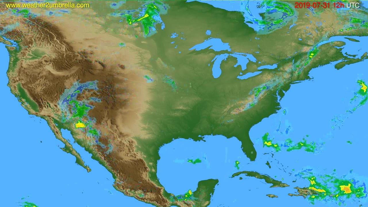 Radar forecast USA & Canada // modelrun: 00h UTC 2019-07-31