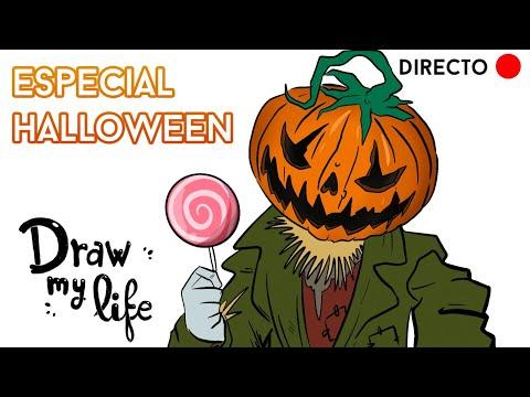🔴  DIRECTO:  💀  Especial HALLOWEEN 🎃   Draw My Life en Español
