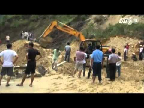 Lai Châu: Nhiều tuyến đường bị sạt lở, gây khó khăn cho giao thông