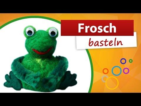 Frösche basteln – Bastelidee und Bastelanleitung