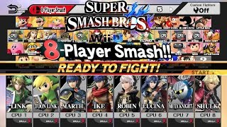Super Smash Bros for Wii U: 8 Swordsmen Smash!