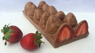 HOW TO MAKE STRAWBERRY CHOCOLATE Ann Reardon How To Cook That - YouTube