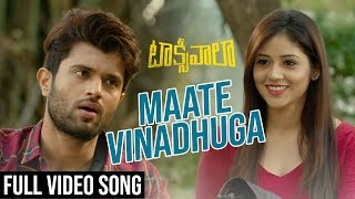 Video Maate Vinadhuga Full Video Song | Taxiwaala Video Songs | Vijay Deverakonda, Priyanka Jawalkar download in MP3, 3GP, MP4, WEBM, AVI, FLV January 2017