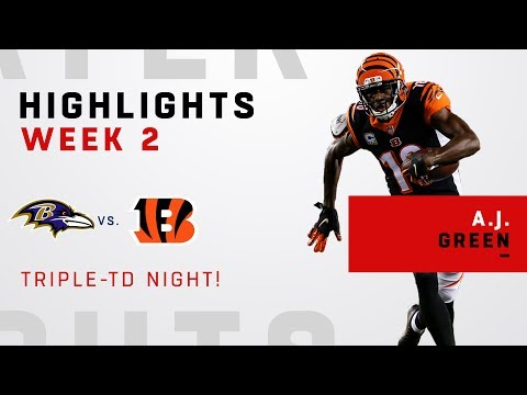 Every A.J. Green Catch on His Triple-TD Game!