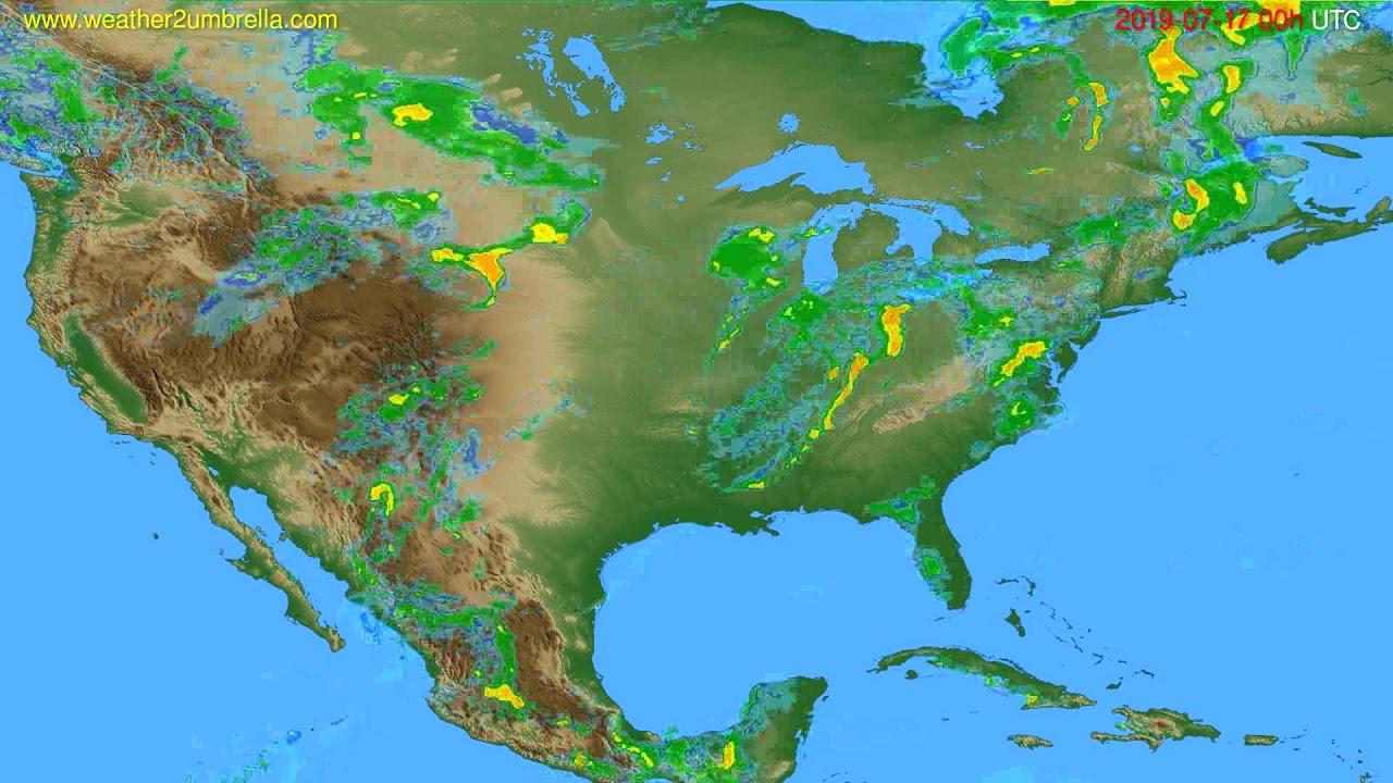 Radar forecast USA & Canada // modelrun: 12h UTC 2019-07-16