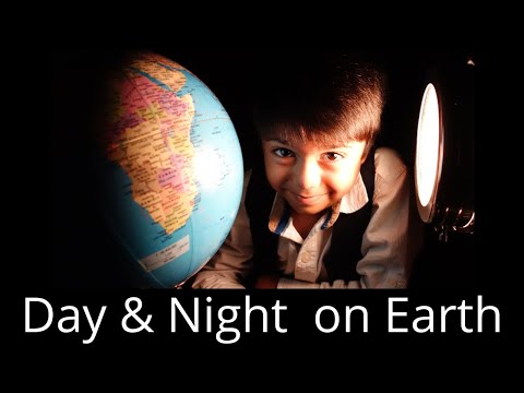 Day and Night Concept for Smart Kids|| Earth's Rotation for Kids||