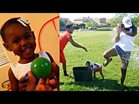 EXTREME FAMILY WATER BALLOON FIGHT GONE WRONG! MOMMY VS DAUGHTER INDOOR BASKETBALL SHOOTOUT! 💦🏀 (видео)