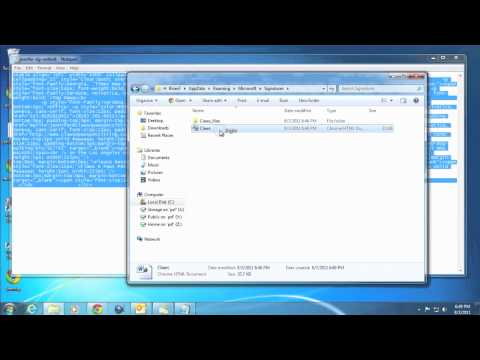 how to change default signature in outlook 2010