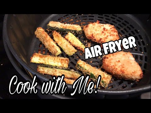 COOK WITH ME! | Fried Chicken & Zucchini In The Air Fryer | October 17, 2018 | Traci B