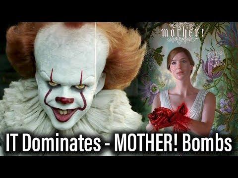 IT Dominates Box Office Again, MOTHER! Bombs (видео)